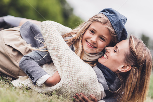 stylish mother and daughter   Stock photo © LightFieldStudios