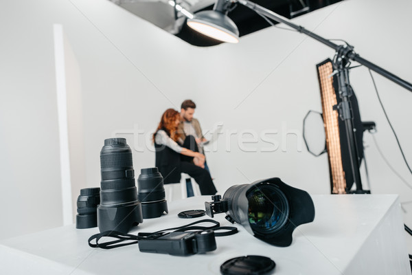 digital photo camera and lenses  Stock photo © LightFieldStudios