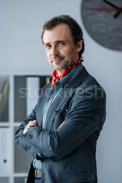 handsome middle aged businessman Stock photo © LightFieldStudios