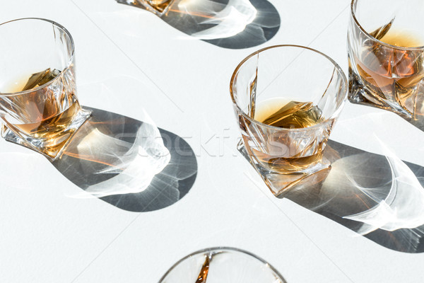 cognac in glasses with shadows     Stock photo © LightFieldStudios