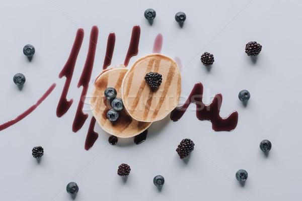 先頭 表示 甘い 自家製 パンケーキ 新鮮な ストックフォト © LightFieldStudios