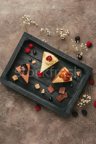 Top view pezzi dolci cioccolato Foto d'archivio © LightFieldStudios