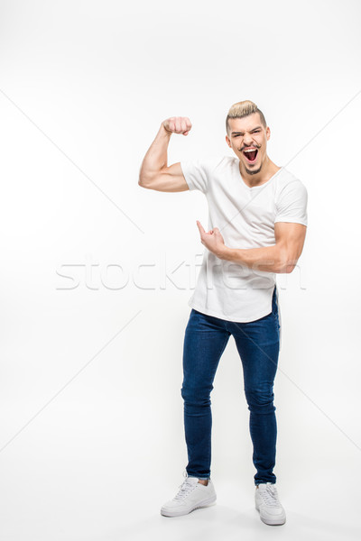 Man tonen stijlvol jonge man Stockfoto © LightFieldStudios