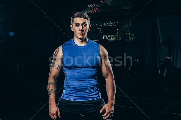 athletic sportsman in sportswear Stock photo © LightFieldStudios