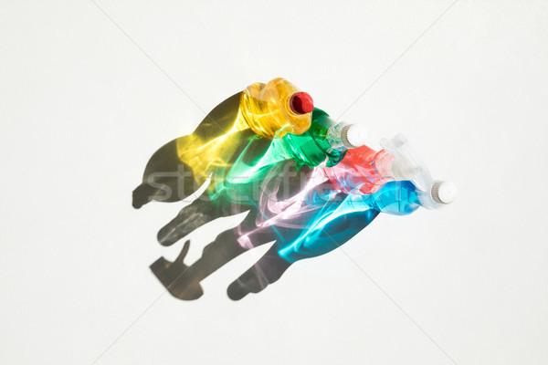 Flessen reinigingsproducten top kleurrijk schoonmaken Stockfoto © LightFieldStudios