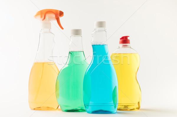 Сток-фото: пластиковых · бутылок · очистки · мнение · красочный