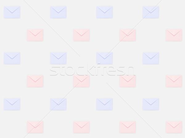 Foto stock: Patrón · repetitivo · mail · azul · colores