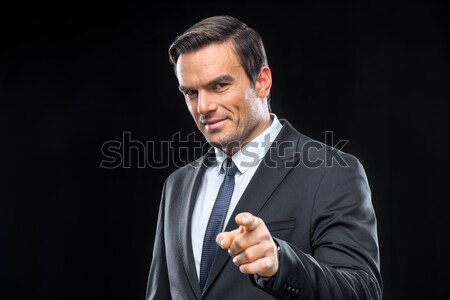 Handsome businessman in suit Stock photo © LightFieldStudios
