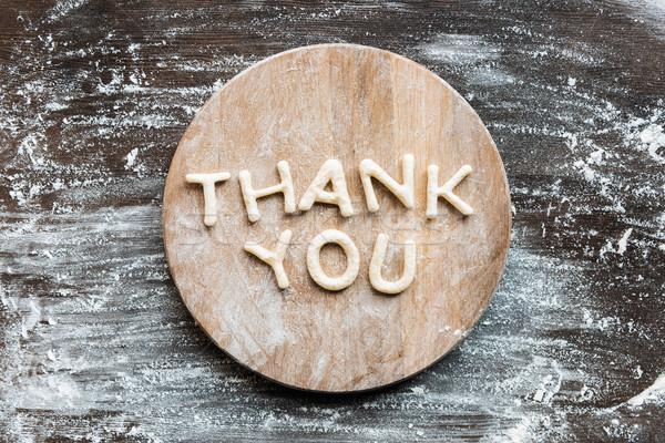 先頭 表示 ありがとう クッキー 小麦粉 木製 ストックフォト © LightFieldStudios