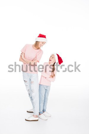 mother and daughter on christmas Stock photo © LightFieldStudios