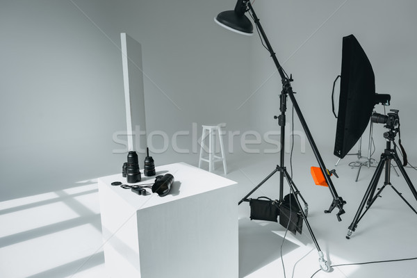 digital equipment in photo studio Stock photo © LightFieldStudios