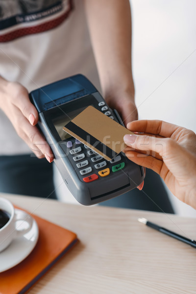 Payment with credit card and terminal Stock photo © LightFieldStudios