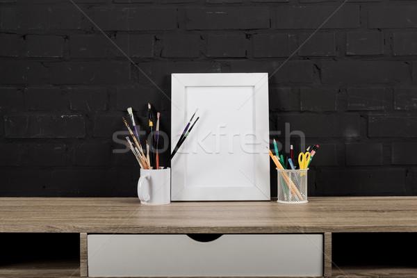 フォトフレーム 事務用品 表 表示 空っぽ ストックフォト © LightFieldStudios