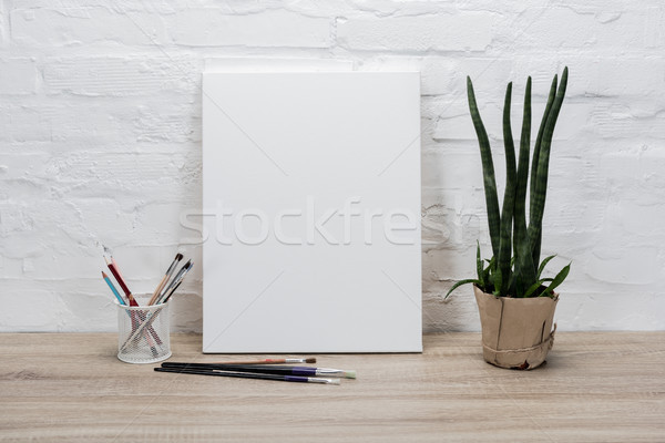 Stock photo: empty drawing easel on table