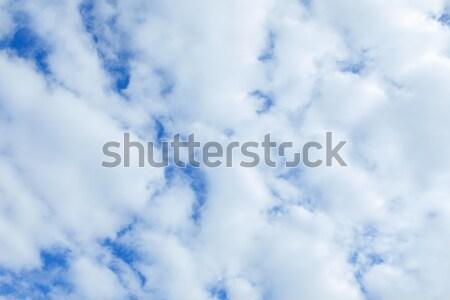 Bulutlar mavi gökyüzü tam kare beyaz doku arka plan Stok fotoğraf © LightFieldStudios