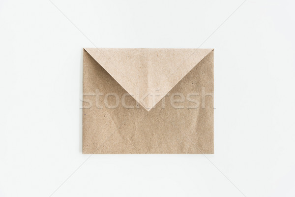 top view of empty kraft envelope isolated on white Stock photo © LightFieldStudios