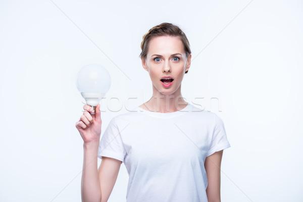 Scioccato donna bella isolato Foto d'archivio © LightFieldStudios