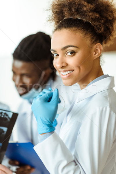 Young african-american doctor Stock photo © LightFieldStudios