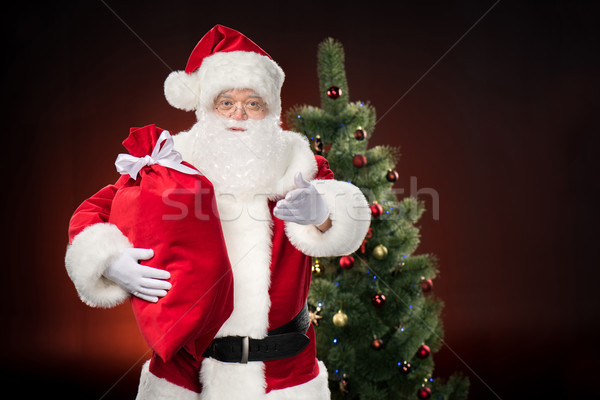 Santa Claus with red sack  Stock photo © LightFieldStudios