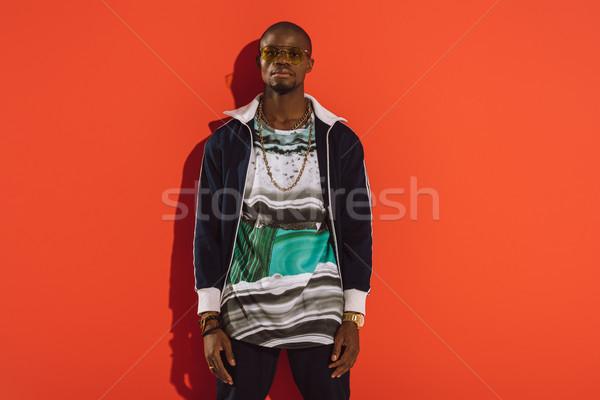 élégant homme portrait lunettes de soleil regarder Photo stock © LightFieldStudios