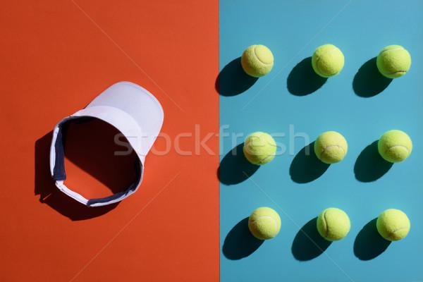 tennis visor and balls Stock photo © LightFieldStudios