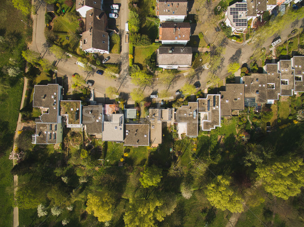 Aerial view of urban city with houses in Germany Stock photo © LightFieldStudios