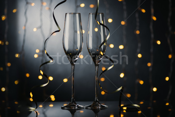empty wineglasses Stock photo © LightFieldStudios