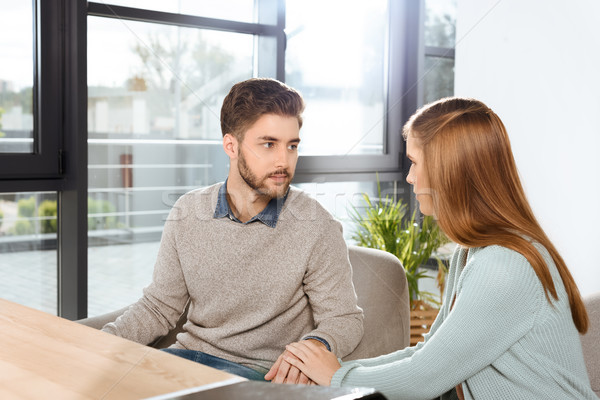young couple at psychotherapy Stock photo © LightFieldStudios