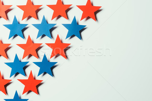top view of arranged stars isolated on grey, presidents day concept Stock photo © LightFieldStudios