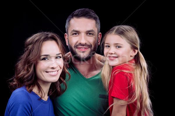 Happy family with one child Stock photo © LightFieldStudios