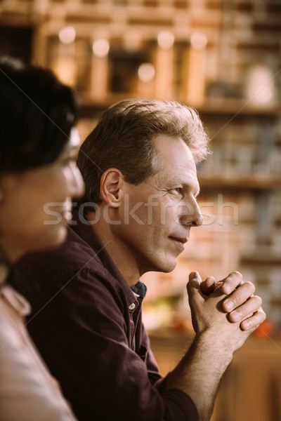 pensive mature man Stock photo © LightFieldStudios
