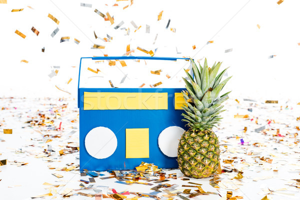 pineapple and tape recorder Stock photo © LightFieldStudios
