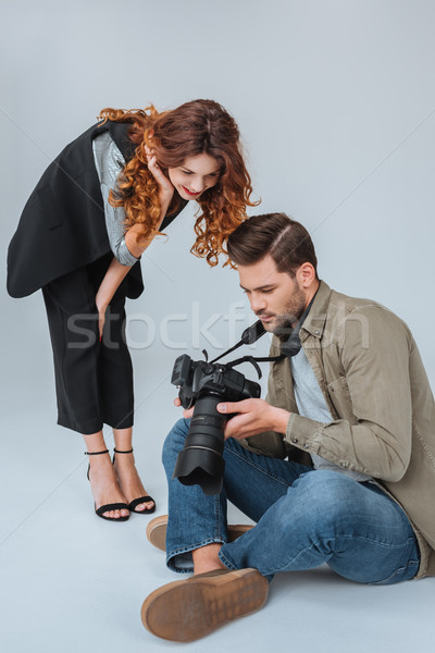 model and professional photographer Stock photo © LightFieldStudios