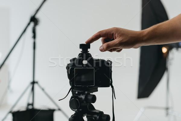 digital photo camera on tripod Stock photo © LightFieldStudios