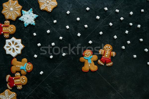 homemade gingerbreads and marshmallows Stock photo © LightFieldStudios