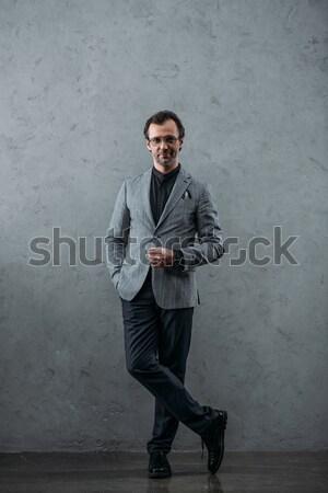 Stock photo: stylish middle aged businessman