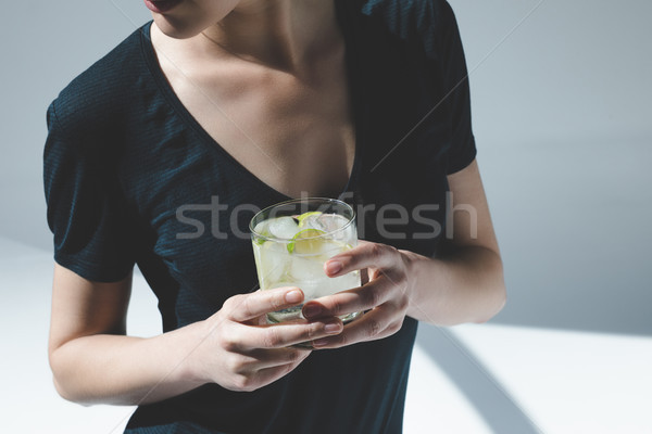 woman drinking gin tonic    Stock photo © LightFieldStudios