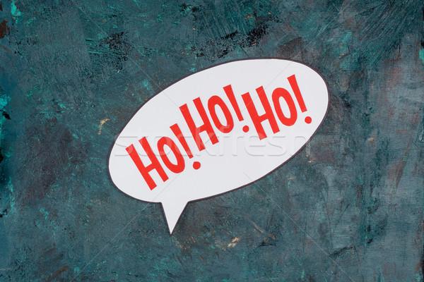 Inschrift top Ansicht Sprechblase glücklich Zeichen Stock foto © LightFieldStudios