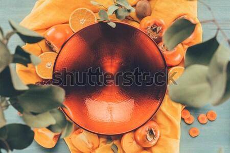 üst görmek büyük kırmızı plaka turuncu Stok fotoğraf © LightFieldStudios