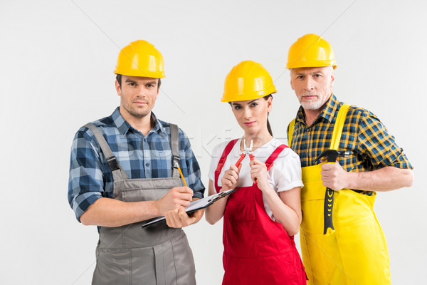 Professional construction workers  Stock photo © LightFieldStudios