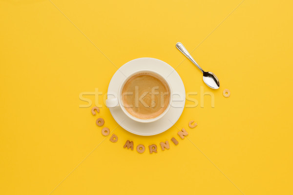Haut vue tasse fraîches chaud Photo stock © LightFieldStudios