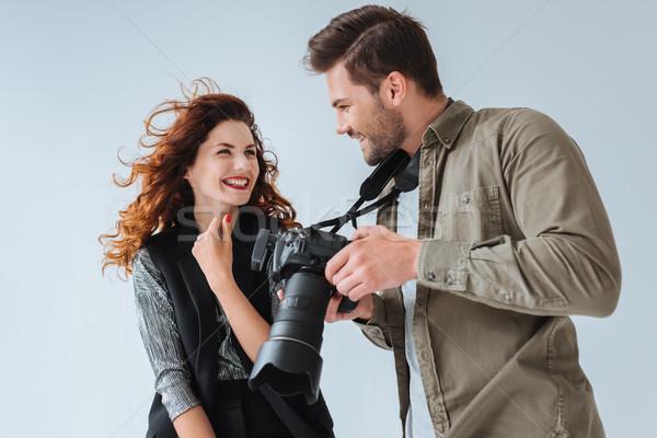Photographe modèle professionnels séduisant mode photo Photo stock © LightFieldStudios