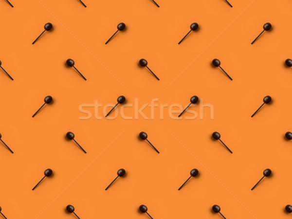 Top мнение черный Sweet изолированный оранжевый Сток-фото © LightFieldStudios