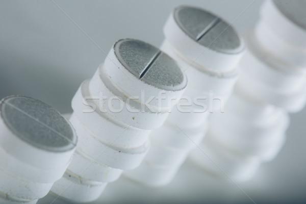 Stockfoto: Witte · geneeskunde · pillen · drugs