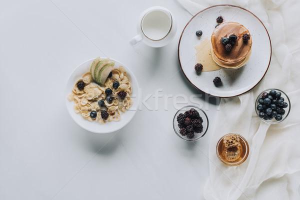 先頭 表示 新鮮な 健康 ミューズリー パンケーキ ストックフォト © LightFieldStudios
