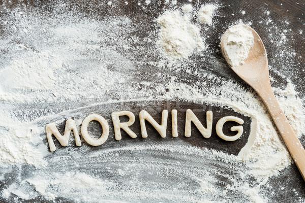 Top eetbaar woord ochtend zoete Stockfoto © LightFieldStudios
