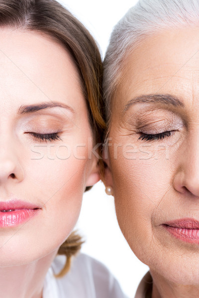 daughter and mother with closed eyes Stock photo © LightFieldStudios