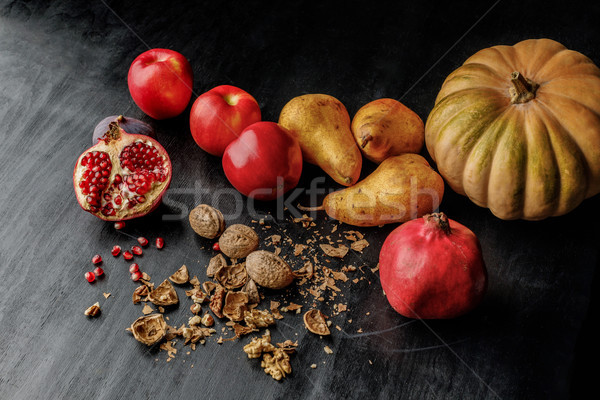 organic autumnal fruits Stock photo © LightFieldStudios