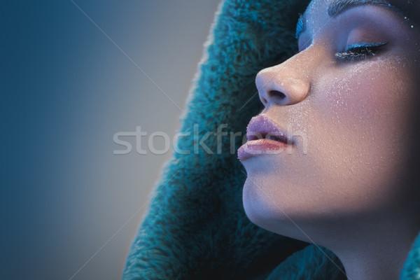 женщину покрытый мороз портрет выстрел Сток-фото © LightFieldStudios