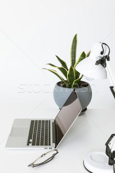 Minimalistic workplace Stock photo © LightFieldStudios